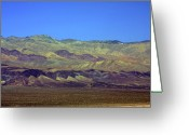 Mountain Ranges Greeting Cards - Death Valley - Land of Extremes Greeting Card by Christine Till
