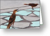 Decor Pastels Greeting Cards - Death Valley Birds Greeting Card by Anastasiya Malakhova