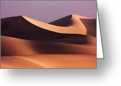 Lanscape Photo Greeting Cards - Death Valley Dunes Greeting Card by Matt  Trimble