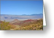 Mountain Ranges Greeting Cards - Death Valley National Park - Eastern California Greeting Card by Christine Till