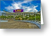 Football Photo Greeting Cards - Death Valley Greeting Card by Scott Pellegrin