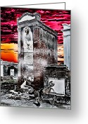 Charles River Digital Art Greeting Cards - Death Waits In A New Orleans Cemetery Greeting Card by James Griffin