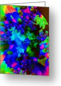 Fluorescence Greeting Cards - Decaying Fluorescence Greeting Card by Ron Bissett