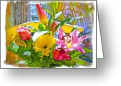 Socal Greeting Cards - December Flowers Greeting Card by Chuck Staley