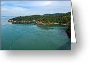 Randall Templeton Greeting Cards - Deception Pass. Greeting Card by Randall Templeton