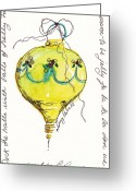 Holiday Notecard Greeting Cards - Deck The Halls Ornament Greeting Card by Michele Hollister - for Nancy Asbell