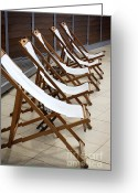 Stripes Greeting Cards - Deckchairs Greeting Card by Carlos Caetano