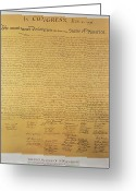 Historical Document Greeting Cards - Declaration of Independence Greeting Card by American School