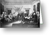 July 4th 1776 Greeting Cards - Declaration Of Independence Greeting Card by Photo Researchers, Inc.