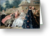 Versailles Greeting Cards - Declaration of Love Greeting Card by Jean Francois de Troy