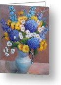 Flovers Greeting Cards - Decor in Dining Room Greeting Card by Marta Styk