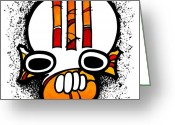 Aboriginal Art Painting Greeting Cards - Dedhed 426 Greeting Card by Dan Daulby
