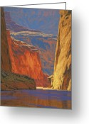 Usa Painting Greeting Cards - Deep in the Canyon Greeting Card by Cody DeLong