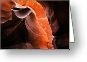 Canyon Greeting Cards - Deep Red Glow Greeting Card by Mike  Dawson