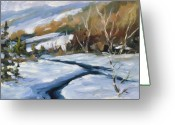 Winter Trees Greeting Cards - Deep Snow Greeting Card by Richard T Pranke
