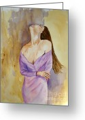 Deep In Thought Painting Greeting Cards - Deep Thoughts Greeting Card by Vicki  Housel