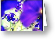 Droid Greeting Cards - Deep Violets #abstract #android Greeting Card by Marianne Dow