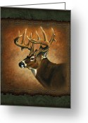 Lodge Greeting Cards - Deer Lodge Greeting Card by JQ Licensing