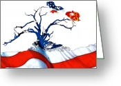 Glory Greeting Cards - Defend your Country Greeting Card by Stefan Kuhn