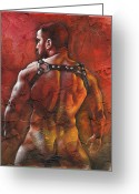Nudes Mixed Media Greeting Cards - Defiant Greeting Card by Chris  Lopez