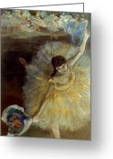 Entertainer Greeting Cards - Degas: Arabesque, 1876-77 Greeting Card by Granger