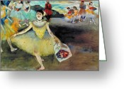 Bowing Greeting Cards - Degas: Dancer, 1878 Greeting Card by Granger