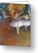 Dancing Greeting Cards - DEGAS: DANCERS, c1877 Greeting Card by Granger
