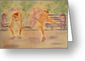 Runner Pastels Greeting Cards - Degas Runner   With Medal Greeting Card by Sandy Ryan