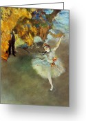Edgar Greeting Cards - Degas: Star, 1876-77 Greeting Card by Granger