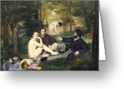 Bread Greeting Cards - Dejeuner sur l Herbe Greeting Card by Edouard Manet