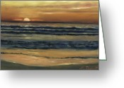 Reinhardt Greeting Cards - Del Mar Sunset Greeting Card by Lisa Reinhardt