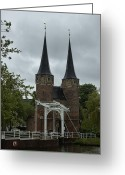 Brdige Greeting Cards - Delft Oostport Greeting Card by Steven Richman