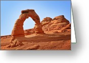 Oval Greeting Cards - Delicate Arch The Arches National Park Utah Greeting Card by Christine Till