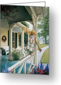 Little Girl Greeting Cards - Delicate Balance Greeting Card by Greg Olsen