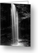 White River Scene Greeting Cards - Delicate Plunge Waterfall Pillar Greeting Card by John Stephens