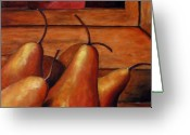 Flowers Direct Greeting Cards - Delicious Pears Greeting Card by Richard T Pranke