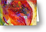 Abstract Expressionism Greeting Cards - Delight Greeting Card by Michael Durst