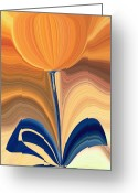 Yellow Flower Digital Art Greeting Cards - Delighted Greeting Card by Tim Allen