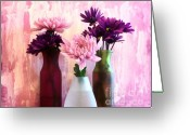 Bouquets Greeting Cards - Delightful Greeting Card by Marsha Heiken