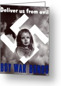 World War Ii Greeting Cards - Deliver Us From Evil Greeting Card by War Is Hell Store
