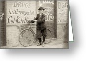 1913 Greeting Cards - Delivery Boy, 1913 Greeting Card by Granger