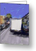 Delivery Greeting Cards - Delivery Greeting Card by Russell Pierce