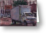 Delivery Greeting Cards - Delivery Truck 2 Greeting Card by Donald Maier