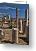 Ancient Civilization Greeting Cards - Delos Island Greeting Card by David Smith