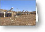 Sacred Photo Greeting Cards - Delos Greeting Card by Joana Kruse