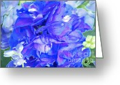 Blue Delphinium Greeting Cards - Delphinium Blue Greeting Card by Gwyn Newcombe