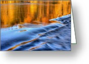 Colours Greeting Cards - Demarcation  Greeting Card by JC Findley