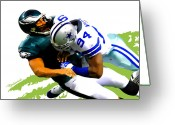 Dallas Cowboys Painting Greeting Cards - DeMarcus Ware - Dallas Cowboys Greeting Card by Rodger Underwood