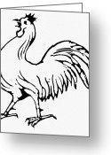Democratic Party Greeting Cards - Democratic Rooster, 1840 Greeting Card by Granger