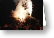 Pyrotechnics Greeting Cards - Demonic coven Greeting Card by Agusti Pardo Rossello